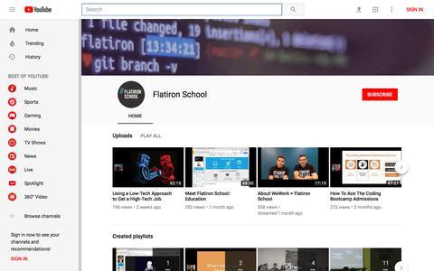 Flatiron School - YouTube - YouTube