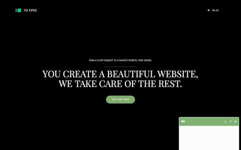 Screenshot of Landing Page imcreator.com - Design - resellers_big_lp - captured April 12, 2016