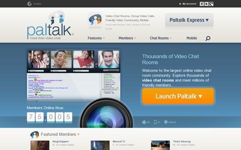 Screenshot of Home Page paltalk.com - Free Video Chat, 5000+ Video Chat Rooms - Paltalk - captured July 10, 2014