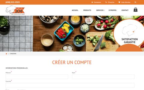 Screenshot of Signup Page bouffemaisonjlm.com - Créer un nouveau compte client - captured Aug. 3, 2018