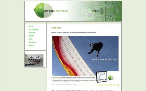 Screenshot of Products Page lemmen-engineering.nl - Products - Lemmen EngineeringLemmen Engineering - captured Sept. 30, 2014