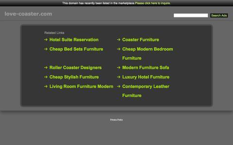 Screenshot of Home Page love-coaster.com - Love-Coaster.com - captured Sept. 19, 2015