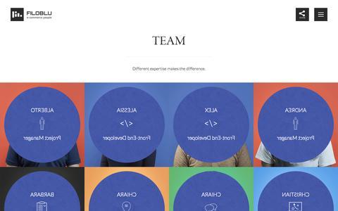 Screenshot of Team Page filoblu.com - E-commerce People - FiloBlu Team - captured Oct. 29, 2014