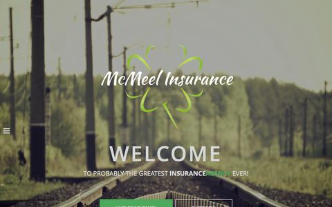 Screenshot of Home Page mcmeelins.com - McMeel Insurance | Probably The Greatest Insurance Agency Ever! - captured Jan. 23, 2015