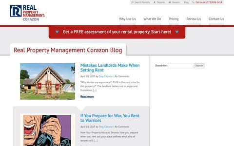 Screenshot of Blog rpmcorazon.com - Reno NV Property Management Blog   Real Property Management Corazon - captured Feb. 8, 2018
