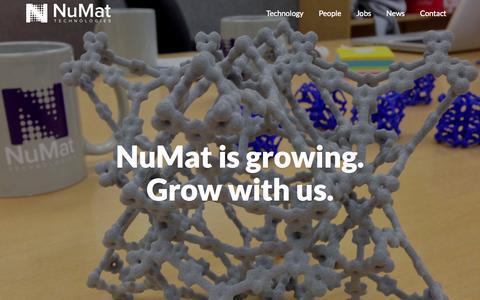 Screenshot of Jobs Page numat-tech.com - Jobs   NuMat - captured Aug. 11, 2015