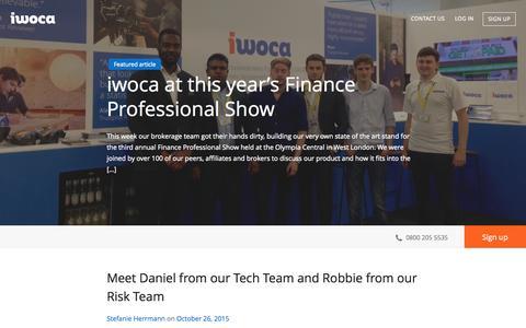 Screenshot of Blog iwoca.co.uk - iwoca - Blog - captured Nov. 10, 2015