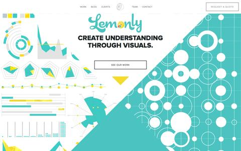 Screenshot of Home Page lemonly.com - Infographic Design Agency | Interactive Infographics - Lemonly - captured July 21, 2015