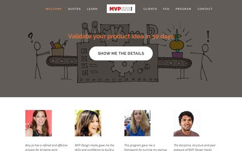 Screenshot of Home Page mvpdesignhacks.com - MVP Design Hacks - captured Nov. 16, 2015
