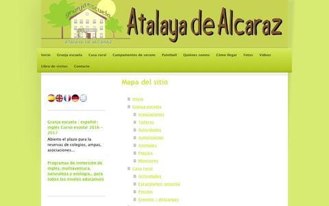 Screenshot of Site Map Page granjaescuela-atalaya.com - GRANJA ESCUELA ATALAYA DE ALCARAZ - captured Nov. 13, 2016