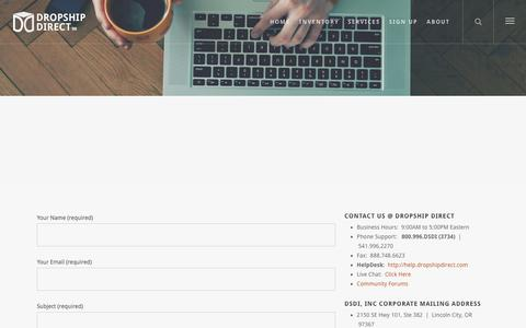 Screenshot of Contact Page dropshipdirect.com - Dropship Direct Wholesale : Contact Us - Dropship Direct : Wholesale Inventory Fulfillment - captured Oct. 29, 2017