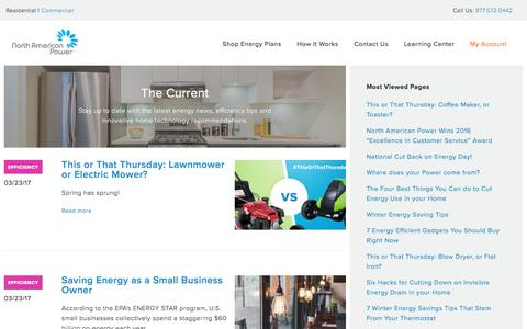 Screenshot of Blog napower.com - Home Energy Savings | Blog | North American Power - captured March 25, 2017