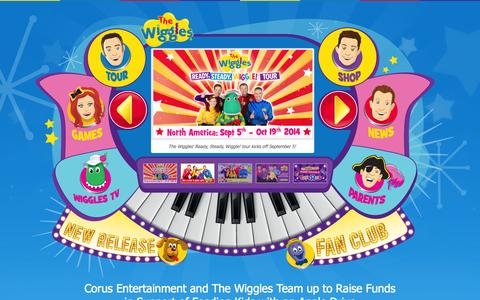 Screenshot of Home Page thewiggles.com - The Wiggles - captured Sept. 25, 2014