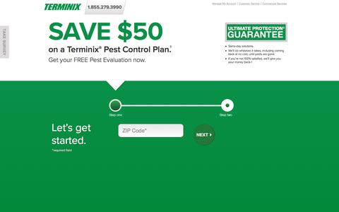 Screenshot of Landing Page terminix.com - Terminix | Pest Control - captured Dec. 12, 2016