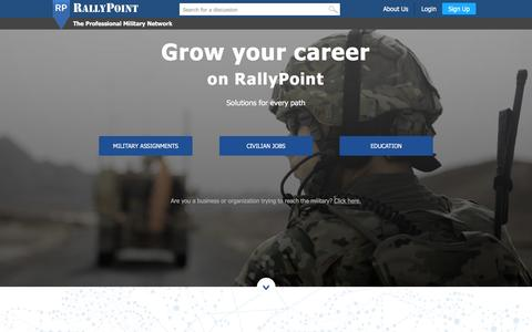 Screenshot of Jobs Page rallypoint.com - RallyPoint - The Professional Military Network - captured Dec. 3, 2015