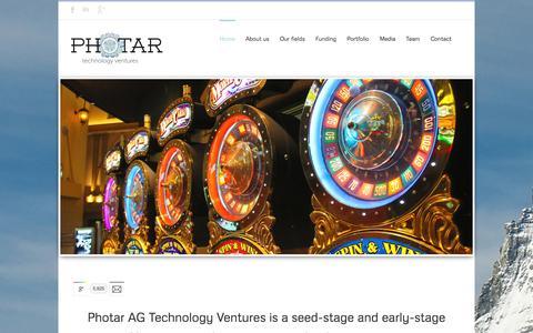 Screenshot of Home Page photar.com - Photar Technology Ventures - captured Oct. 1, 2014