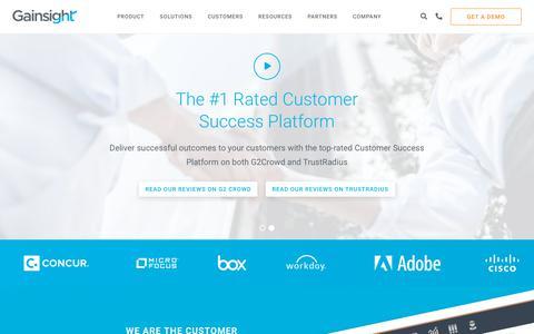 Screenshot of Home Page gainsight.com - Customer Success Software | Gainsight - captured April 11, 2018