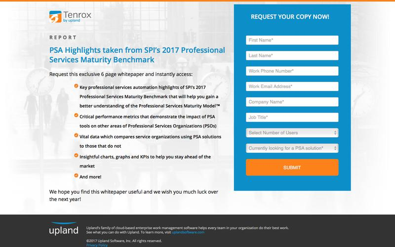 PSA Highlights taken from SPI's 2017 Professional Services Maturity Benchmark