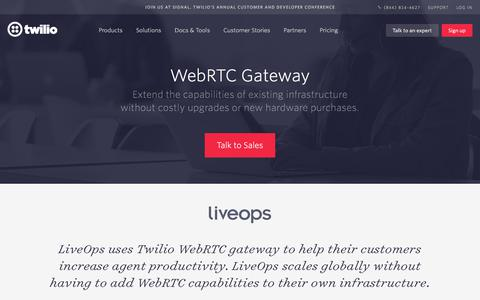 Screenshot of Case Studies Page twilio.com - WebRTC Gateway - Twilio - captured Nov. 28, 2019