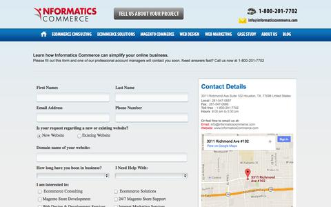 Screenshot of Contact Page informaticscommerce.com - Informatics Commerce Contact Us  | Informatics Commerce - captured Sept. 26, 2014