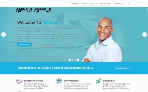 Screenshot of Home Page myencor.com - Encor360 frontend - captured Jan. 28, 2015