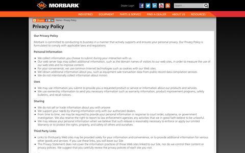 Privacy Policy - Morbark, Inc.