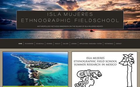 Screenshot of Home Page anthrofieldschool.com - Isla Mujeres Ethnographic Fieldschool - captured Jan. 25, 2015