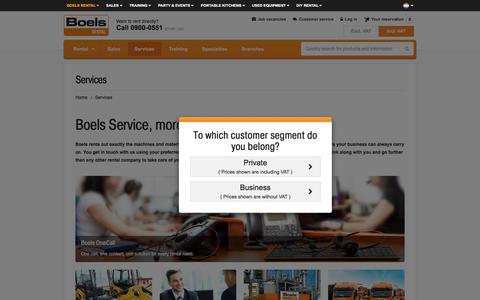 Screenshot of Services Page boels.nl - Services - captured July 1, 2017