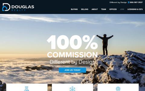 Screenshot of Signup Page godouglasrealty.com - Douglas Realty » Join - Douglas Realty - captured Oct. 9, 2018