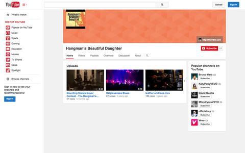 Screenshot of YouTube Page youtube.com - Hangman's Beautiful Daughter  - YouTube - captured Oct. 26, 2014