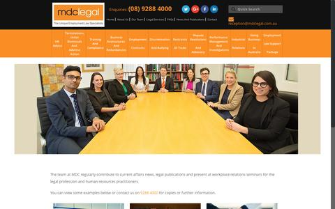 Screenshot of Press Page mdclegal.com.au - News And Publications - MDC Legal - Perth - captured May 27, 2017