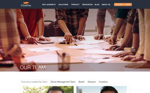 Screenshot of Team Page clickfox.com - Our Team   Customer Analytics Experts   ClickFox - captured Nov. 30, 2018