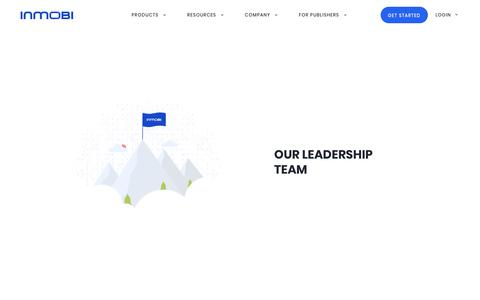 Screenshot of Team Page inmobi.com - InMobi | Enterprise Mobile Marketing & Advertising Platforms - captured Aug. 22, 2019