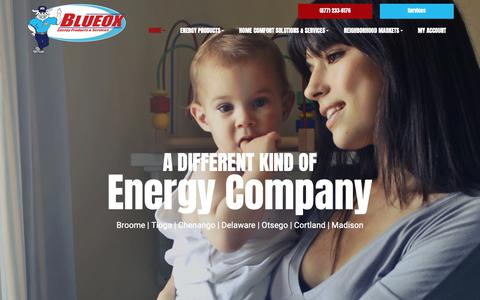 Screenshot of Home Page blueoxenergy.com - HVAC Systems Oxford | Heating And Cooling NY | Heating And Air Conditioning Repair 13830 - Blueox Energy - captured Oct. 6, 2018