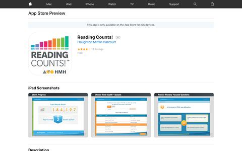 Reading Counts! on the App Store