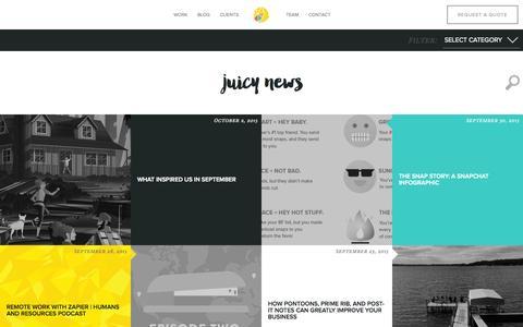 Screenshot of Blog lemonly.com - Infographic Design Blog from Lemonly - captured Oct. 2, 2015