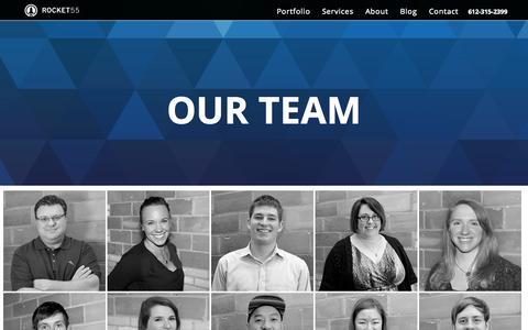 Screenshot of Team Page rocket55.com - Minneapolis Digital Agency | Digital Agencies in Minneapolis MN - captured Nov. 5, 2015
