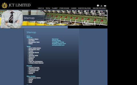 Screenshot of Site Map Page jct.co.in - Welcome to JCT Limited - captured Oct. 3, 2014