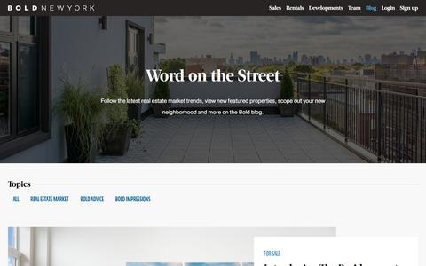 Screenshot of Blog boldnewyork.com - Blog – Bold New York - captured Aug. 3, 2018