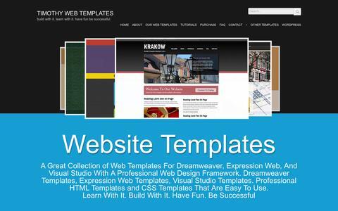 Screenshot of Home Page timothytemplates.com - Web Templates - captured June 27, 2016