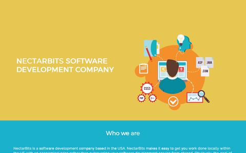 Screenshot of Locations Page nectarbits.com - Software Development company in USA - captured Sept. 10, 2019