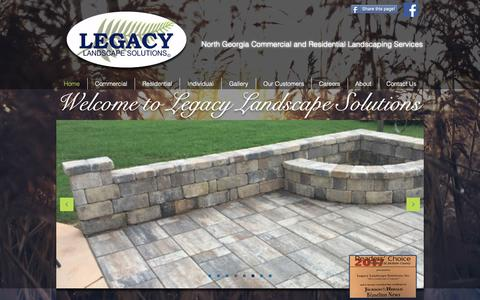 Screenshot of Home Page legacylawn.com - Legacy Landscape Solutions | Let Your Lawn Be Your Legacy - captured Sept. 28, 2018