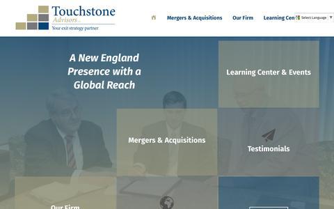 Screenshot of Home Page touchstoneadvisors.com - Home - Touchstone Advisors - captured Dec. 19, 2016