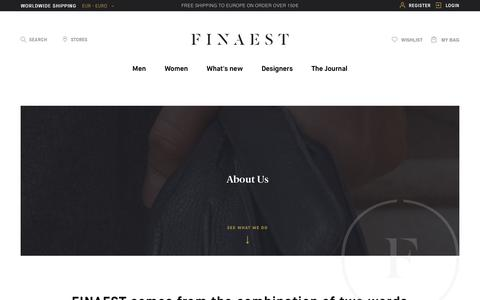 Screenshot of About Page finaest.com - About Us - captured Oct. 7, 2017