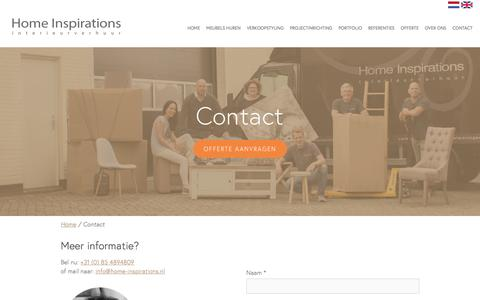Screenshot of Contact Page home-inspirations.nl - Contact | Home Inspirations - captured May 20, 2017