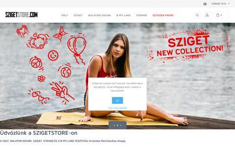 Screenshot of Home Page szigetstore.com - Szigetstore.com - captured Oct. 24, 2018