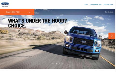 Screenshot of ford.com - 2018 Ford F-150 Pickup   Tougher, Smarter, More Capable Than Ever   Ford.com - captured Feb. 18, 2017