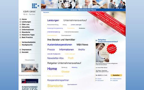 Screenshot of Site Map Page concess.de - con|cess - captured Oct. 3, 2014