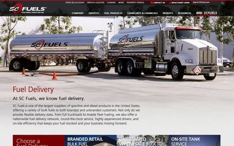 Screenshot of Services Page scfuels.com - Fuel Delivery | SC Fuels - captured Sept. 30, 2014