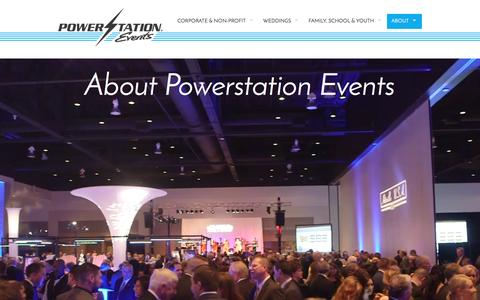 Screenshot of About Page powerstationevents.com - About Powerstation Events   Powerstation Events - Event Entertainment, Services & Production - captured May 20, 2017